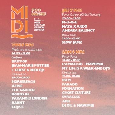 Midi Festival (Toulon, 7-9 mai) : Aline, Boxed In, Ibeyi…