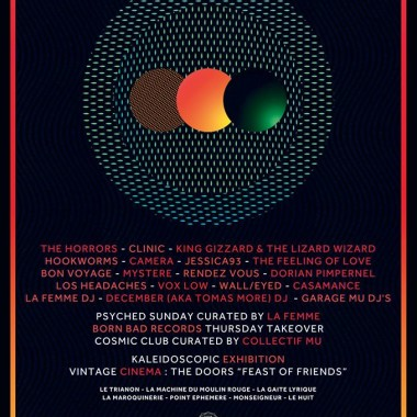 Paris International Festival Of Psychedelic Music : The Horrors, Clinic, Jessica 93…