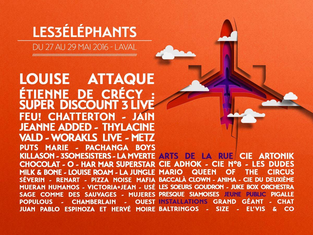festival 3 elephants